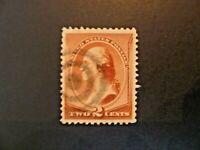 USA 1883 $.02 Washington #210 Fancy Cancel & VF Margins Used - See Description