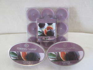 Colonial Candle CCCC TROPICAL FIG 9/pak Tea Lights & 2 Snaps