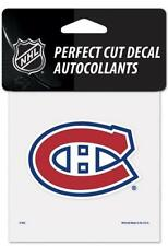"""(HCW) Montreal Canadiens Perfect Cut Color 4""""x4"""" NHL Decal Sticker *FREE SHIP"""