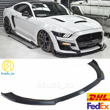 Fits For 15-17 Ford Mustang GT500 Style Front Bumper Lip Spoiler - PP Flat Black