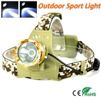 13000LM LED Headlamp Camouflage XM-L T6 LED Bike Head light Torch 18650 3 Modes