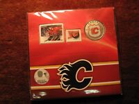 Canada 2014 Calgary Flames Coin & Stamp Rcm Set.