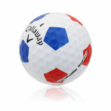 3 Callaway Chrome Soft Truvis Red/Blue Mint Golf Balls Collectors Prototype