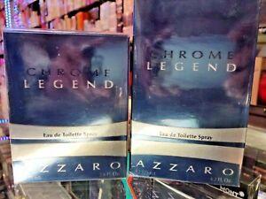 CHROME LEGEND by AZZARO EDT Spray 2.5 oz / 4.2 oz for Men * NEW IN SEALED BOX *