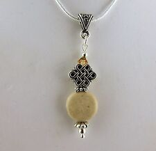 necklace w/ Swarovski crystal beads Irish Ulster Marble Celtic Knot