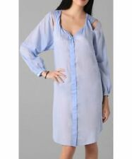 THERESE RAWSTHORNE: Twist Smock Dress Casual Summer Button Down Shirt Dress