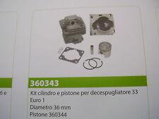 CILINDRO E PISTONE PER DECESPUGLIATORE 33 EURO1 TIPO CINESE DIAMETRO 36MM