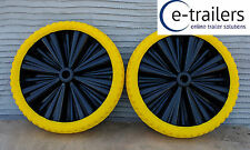 400x8 Starco Opti Flex-Lite Puncture Proof Boat Launch Trolley Barrow Wheel x 2
