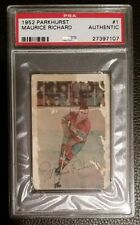 1952-53 Maurice Richard PARKHURST #1 (Montreal Canadiens HOF) (RC) PSA Authentic
