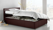 BRAND NEW Hygena Harcourt Single Side Lift Ottoman Bed Frame - Chocolate