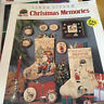 CHRISTMAS MEMORIES CROSS STITCH PATTERN DIMENSIONS VINTAGE LINDA GILLUM STOCKING