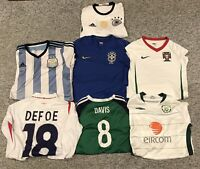 Football Shirt Bundle, Brazil/Argentina/Portuga erc Kids Sizes: 4x S/2x L/1x XL