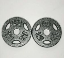Set of 2.5 Lb Pound 1 inch CAP Barbell Weight Plates  5lbs Total