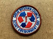 VINTAGE BOY SCOUTS OF AMERICA GREAT WESTERN SCOUT ENVIRONMENT DAY PATCH BROWN