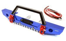 RC Car C26992BLUE Realistic Scale F Bumper w/LED Lights for Axial 1/10 SCX10 II