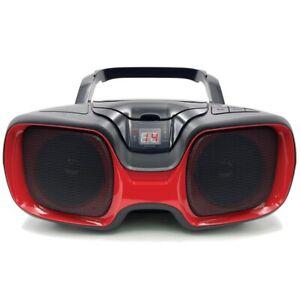 Sylvania Srcd1037bt-black/red Bluetooth Portable Cd Am/fm Radio Boombox [red]