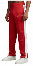 True Religion Men's Activewear Track Pants in Ruby Red/White