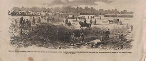 1862 Leslies Illustrated - After the battle at Williamsburg - Dead and wounded