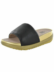 Fitflop Womens Loosh Luxe Leather Pool Slide Sandal Shoes