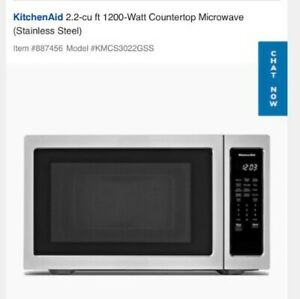 KitchenAid  24in Stainless Steel Countertop Microwave Oven new open box