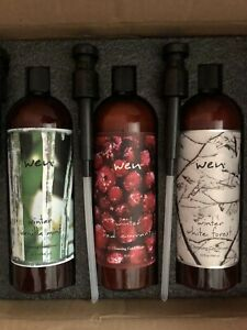 WEN Winter 3 Cleansing Cond. 32oz ea:Vanilla Mint, Red Currant, White Forest