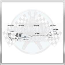 Full Exhaust System for Peugeot 206 1.6 (12/00-01/06)