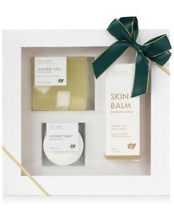 Japanese Yuzu Natural Soap Bar Skin Balm Shower Tablet Bath & Body Gift Set 3-pc