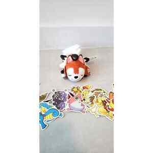 Sleeping Lycanroc Kuttari Plush Sold out at Pokemon Center NWT + Free stickers!