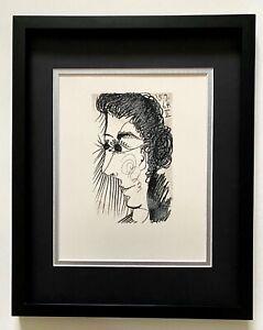 """Pablo Picasso """" La Gout Du Bonheur"""" Original Lithograph for Connoisseurs Framed"""