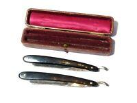 Antique Pair of Cut Throat / Straight Razors The MAB Razor in Original Box