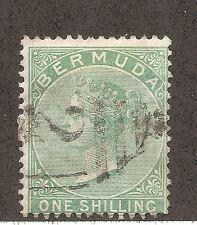 Bermuda SC # 6 Queen Victoria One shilling . Used