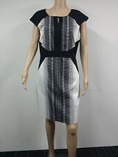 NEW with Defect - Tahari - Size 14 - Cap Sleeve Ombre Dress - Black / White $128