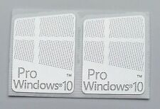 "2x ""Windows 10 Pro"" Logo Metal Sticker for Computer/Laptop PC 17x22mm USA Seller"