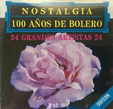 Nostalgia 100 Años De Bolero Various Artistas Grandes CD ORFEON 96 Puerto Rico