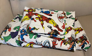 Pottery Barn Kids Marvel Avengers Twin Hulk Captain America Thor Sheet Set 3 pc