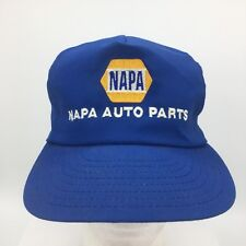 Vintage NAPA Auto Parts Embroidered Logo  Blue Made in USA Snapback Hat Cap