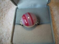 Ring Pinks BOTSWANA  AGATE 925 Silver Sz 7.5 NIB UNIQUE