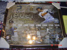 NEW YORK YANKEES DEREK JETER SIGNED & FRAMED ROAD TO 3000 20x24 COLLAGE STEINER