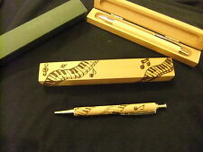 Personalised Wooden ball point pen & wooden box -music gift-hand designed-ooak