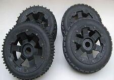 Baja Dirt Buster type Tyres & 6 Spoke Wheels Re&Fr fit 5B Rovan Kingmotor PRC
