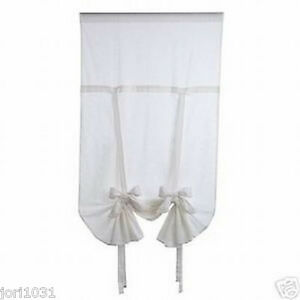 "lot 4 NEW Designer Window Shade Curtain white 60""x75"""