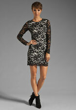 $345 Theory Black Lace Dress Galician Floral Marique Cocktail Formal NWT 8 10