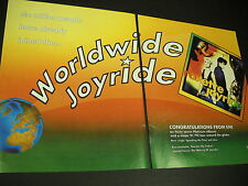 ROXETTE 1991 2-Piece Large PROMO DISPLAY AD Worldwide Joyride
