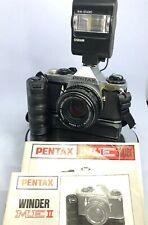 Pentax ME Super 35mm Film manual SLR Camera+Pentax M 50/1.7 smc Lens+Accessor796