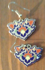 PIA Pakistan International Airlines Earrings Enamel Punjab Tail Fin Art Motif