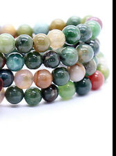 Natural 8mm stone Buddhist Agate 108 Prayer Beads Mala Bracelet Necklace