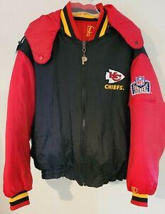 EUC! ~ Vtg Kansas City Chief's Pro Player Reversible Puffy Coat Size Large