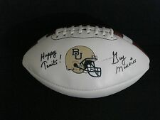 "BAYLOR BEARS AUTHENTIC ""THE BIG GAME"" FOOTBALL SIGNED BY HEAD COACH GUY MORRISS"