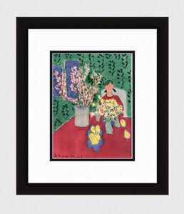 "Great 1948 HENRI MATISSE Antique Print ""La Branche De Prunier"" Framed Signed COA"