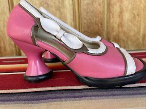 JOHN FLUEVOG Women's Peep-Toe Mary Janes Size 7.5 M